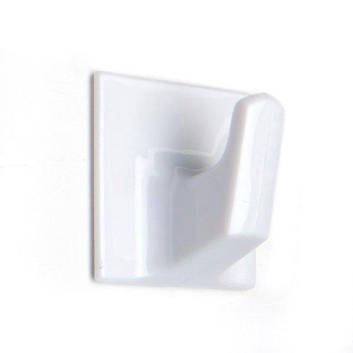 HO303 LARGE SQUARE SELF ADHESIVE HOOK WHITE (5)