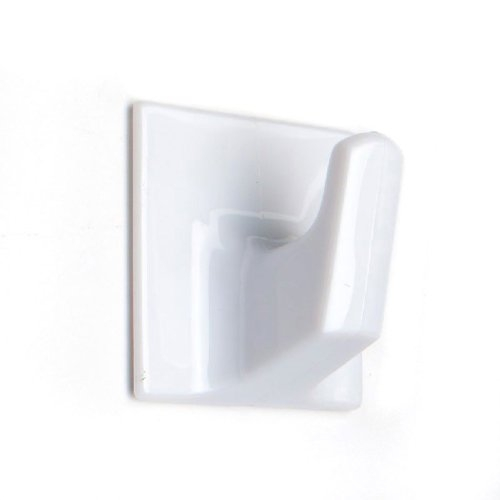 HO301 SMALL SQUARE SELF ADHESIVE HOOK WHITE (5)