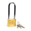 SE038L TRI-CIRCLE 38MM BRASS PADLOCK L/S
