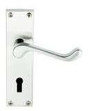 HA302 VICTORIAN SCROLL LOCK HANDLE POLISHED CHROME